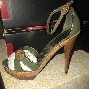 Olive green heels from Charlotte Russe